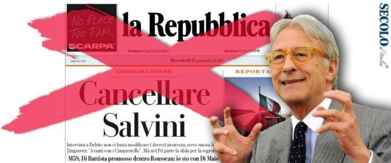 L'editoriale di Storace: Chiudere Repubblica dovrebbe essere l'unica risposta alla minaccia di cancellare Salvini