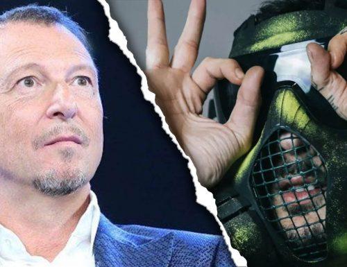 """Sanremo Scatta la querela per Amadeus e Junior Cally: """"Istigazione alla violenza sulle donne"""""""