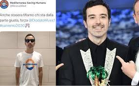 Sanremo Diodato fa brindare sinistra e Ong Salvini aveva ragione, ha vinto la sinistra