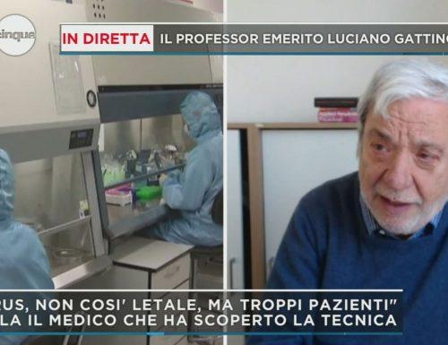 """Covid-19 L'intervento del luminare  Gattinoni a La Stampa: """"Se si attacca ai polmoni è letale"""""""