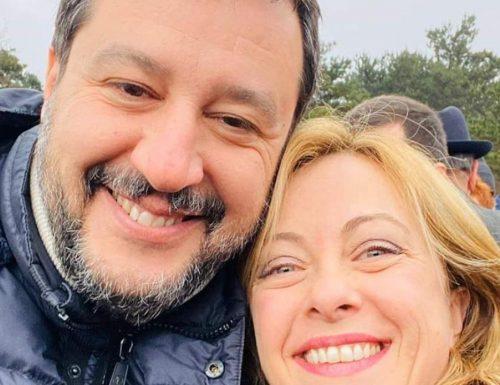 """Lega-FDI La Meloni: """"Sui giornali paginate su FdI e la Lega. Ma non s'illudano, dividerci è impossibile"""" Sinistra KO"""