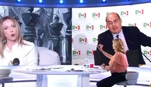 """Meloni disintegra il PD: """"Zingaretti è scandaloso. Sono pronti a tutto pur di impedire agli italiani di votare"""" [Video]"""