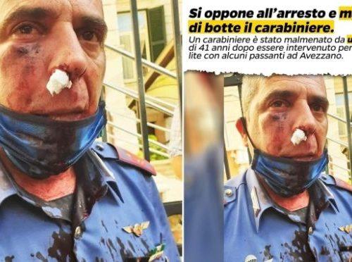 """""""Italia sotto choc"""" Carabiniere massacrato di botte da un immigrato. La reazione dell'Arma: """"Siamo stufi, le istituzioni tacciono"""""""