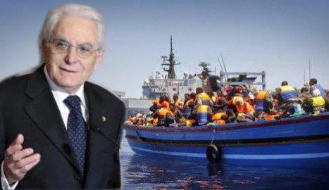 """Coronavirus, ego Mattarella, molto  preoccupato per i migranti: """"Sono in difficoltà, vanno accolti"""" Ma non una parola sugli aiuti in ritardo a famiglie e imprese italiane"""