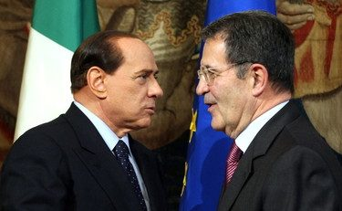 """Prodi ci prova con Berlusconi come se fosse una Sardina: """"Prodi parla bene di me? Strano, per vent'anni mi ha sempre demonizzato"""""""