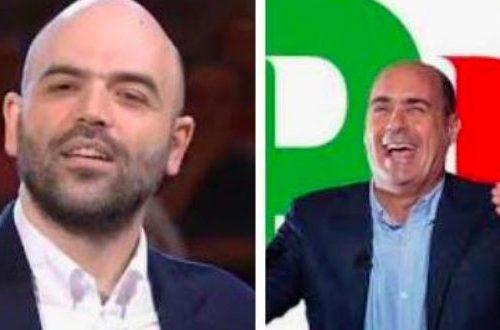 """I panni sporchi in pubblico Migranti, Saviano a valanga contro Zingaretti, ma l'ossessione per Salvini non si spegne: """"Ti sei venduto, sei diventato come Salvini"""""""