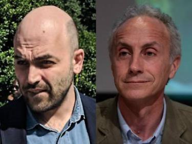 """Volano insulti tra radical chic di sinistra. Travaglio graffia Saviano: """"Sei demenziale, aiuti la destra"""""""