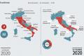 Ecco cosa cambia dopo il voto di ieri: il centrodestra governa in 15 Regioni su 20. La sinistra sta scomparendo
