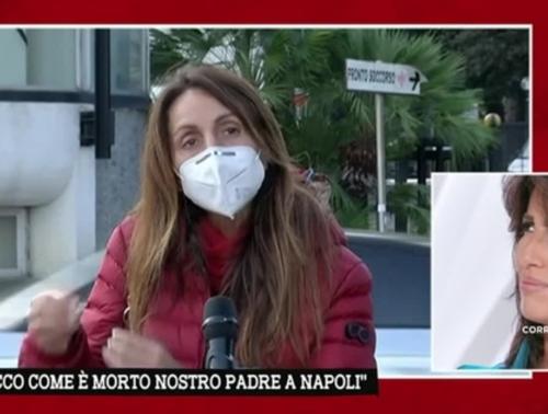"""La morte tragica nel bagno del Cardarelli di Napoli, lo sfogo di Filomena: """"Come ho visto morire mio padre, non mi hanno ridato neppure la fede"""" [Video]"""