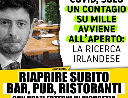 """Giorgia Meloni a valanga contro il Cts: """"Proibire i contanti al ristorante per diminuire i contagi? Altra follia"""""""