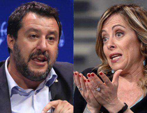 """Coprifuoco,  Salvini offre la mancia: """"Spostiamolo alle 23"""". Giorgia Meloni: """"Un misero contentino. Va abolito"""""""