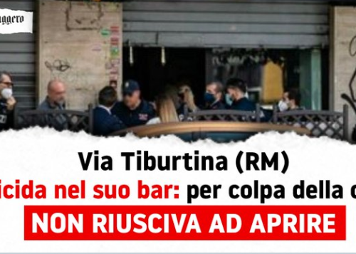 """Tragedia a Roma: si impicca nel sottoscala del suo bar. Giorgia Meloni: """"intervenire per evitare queste tragedie"""""""
