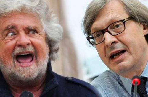 """I genitori a volte credono di aiutare i figli ma invece li danneggiano… Ma ormai è tardi… Sgarbi a valanga contro Beppe Grillo: """"Suo figlio deve ringraziare le sparate del padre se andrà a processo…"""""""