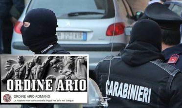 "L'intervento del  Ros contro ""Ordine Ario Romano"" su Facebook"