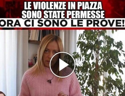 """Giorgia Meloni scopre le carte in tavola: """"Ecco le prove, il Viminale trattò con i violenti. Lamorgese vada a casa e la sinistra si scusi"""" (Video)"""