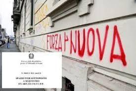 Il sito di Forza Nuova sotto sequestro, sono quattro gli indagati a Roma